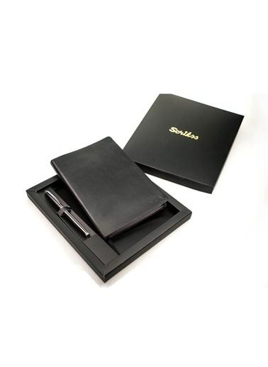 Scrikss SD100-1 Sundance Premium A5 Defter Siyah Renkli